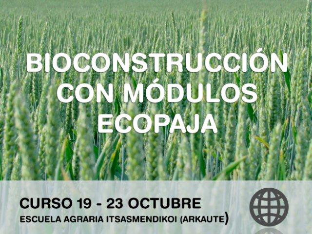 Bioconstrucción con módulos Ecopaja